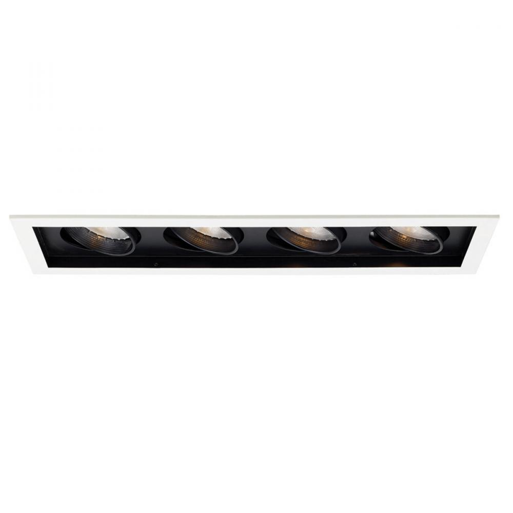 Four Light Black Directional Recessed Light