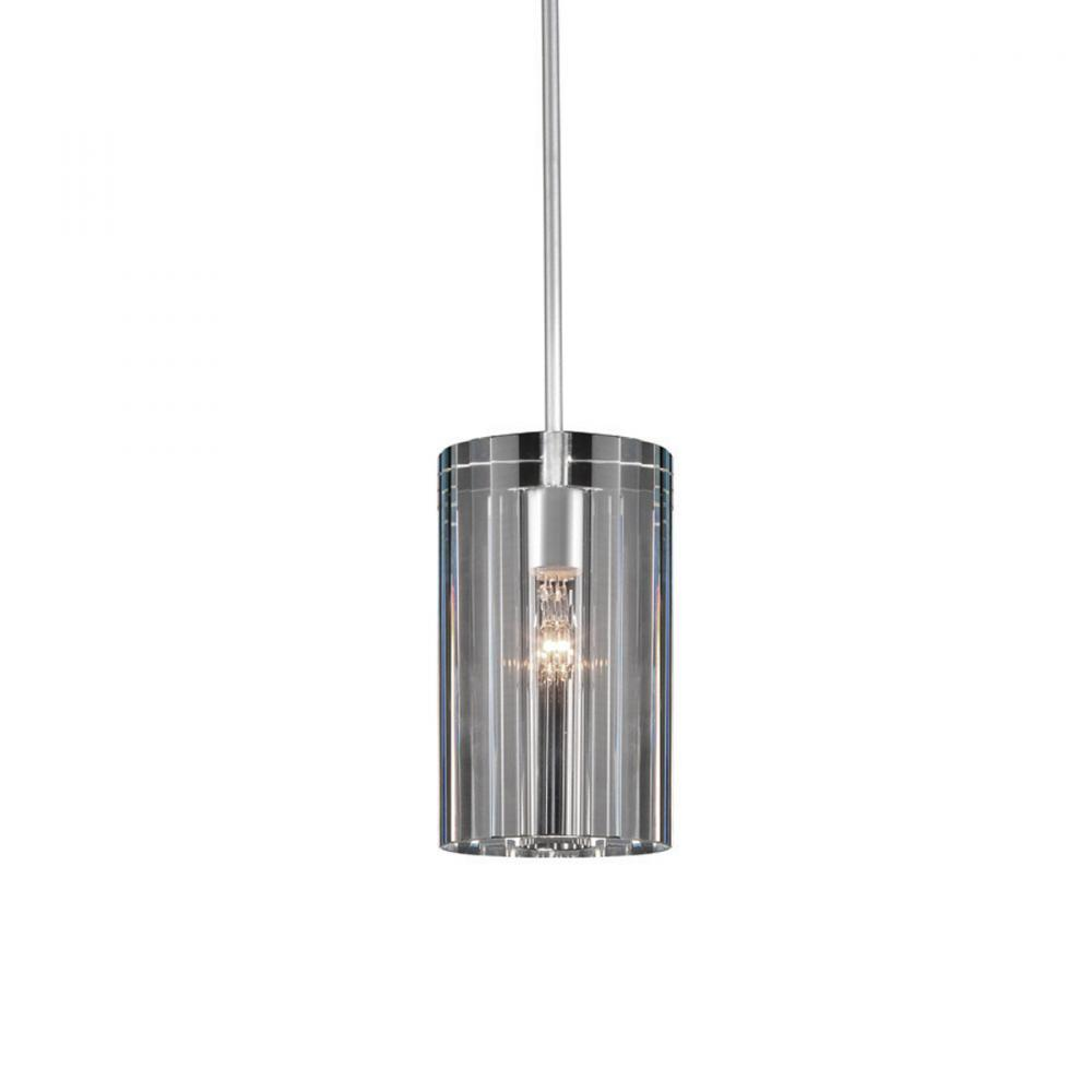 Pyxis Quick Connect Pendant - Clear Shade with Brushed Nickel Socket Set