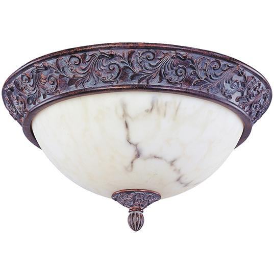 Granite City Electric in Plymouth, Massachusetts, United States, Maxim 2222WHGB, Three Light Greek Bronze White Alabaster Glass Bowl Flush Mount, Apollo