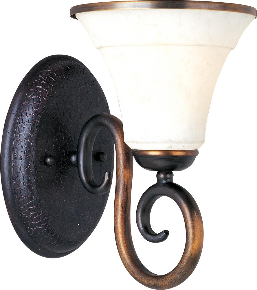One Light Frost Lichen Glass Bathroom Sconce