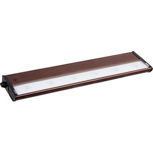 Six Light Clear Glass Metallic Bronze LED Undercabinet Light