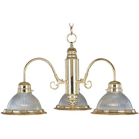 Granite City Electric in Plymouth, Massachusetts, United States, Maxim 91193CLPB, Three Light Polished Brass Clear Glass Down Chandelier, Builder Basics