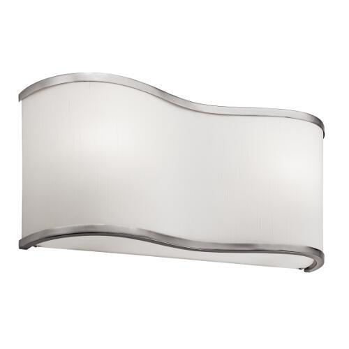 Two Light Brushed Nickel Wall Light