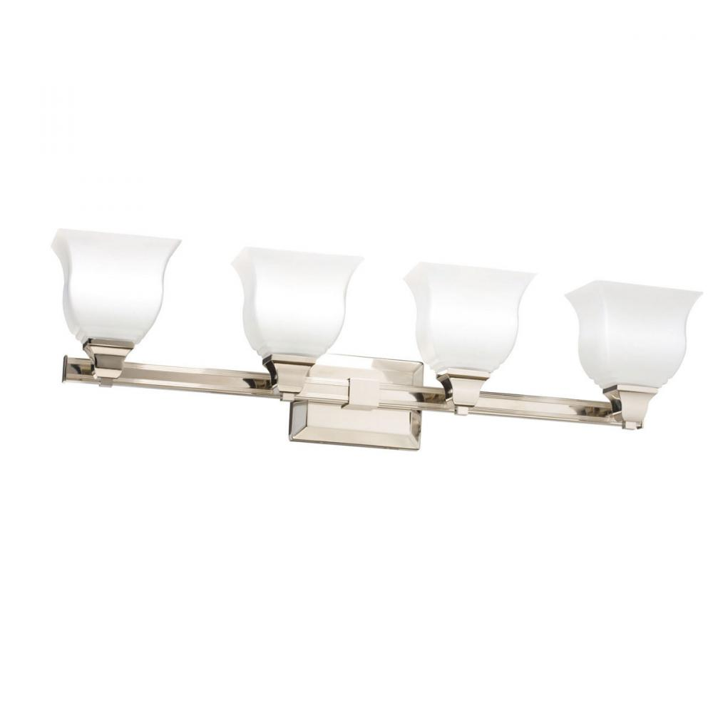 Four Light Polished Nickel Vanity