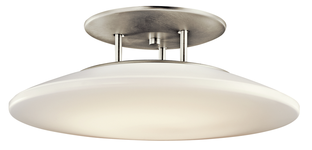 Semi Flush 1Lt Fluorescent