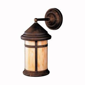 One Light Bronze Wall Lantern