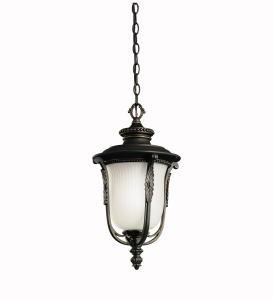 One Light Rubbed Bronze Hanging Lantern