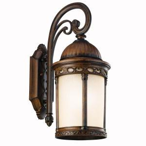 One Light Brown Stone Wall Lantern