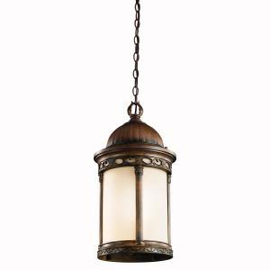 One Light Brown Stone Hanging Lantern