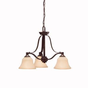 Three Light Canyon Slate Down Chandelier