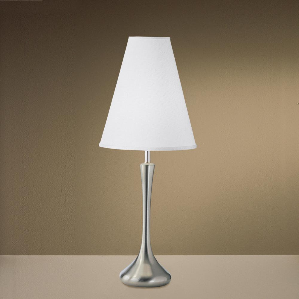One Light Brushed Nickel Table Lamp (2 pack)