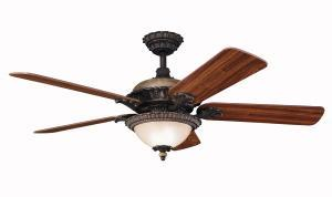 Granite City Electric in Plymouth, Massachusetts, United States, Kichler 300108CTZ, Three Light Colton Bronze Ceiling Fan, Roxton