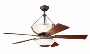 Granite City Electric in Plymouth, Massachusetts, United States, Kichler 300111OZ, Two Light Olde Bronze Ceiling Fan, Lucia