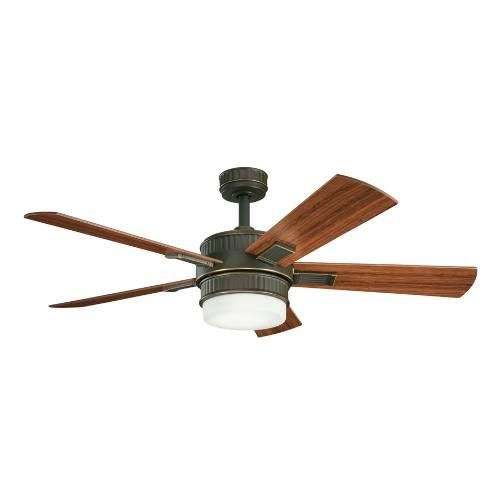 Two Light Oiled Bronze Ceiling Fan