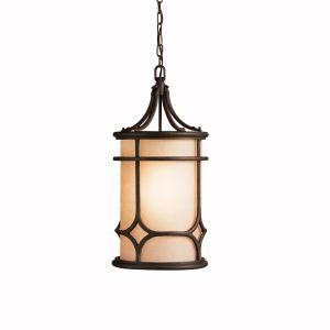 One Light Aged Bronze Hanging Lantern