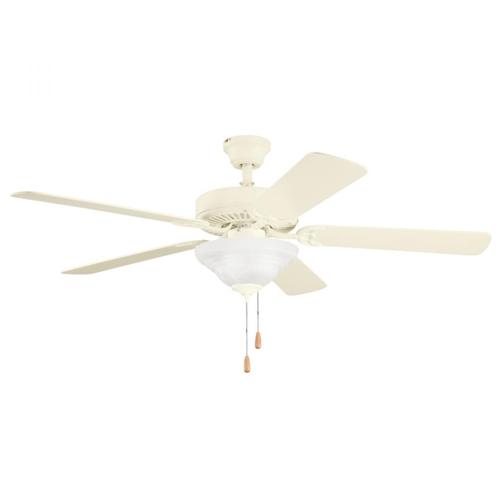 Three Light Adobe Cream Ceiling Fan