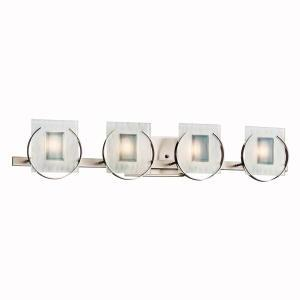 Eight Light Brushed Nickel Vanity
