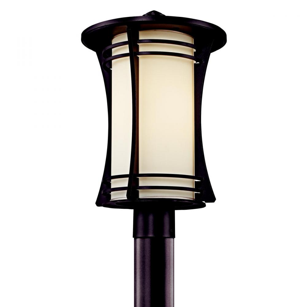 One Light Architectural Bronze Post Light
