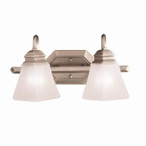 Two Light Antique Pewter Vanity