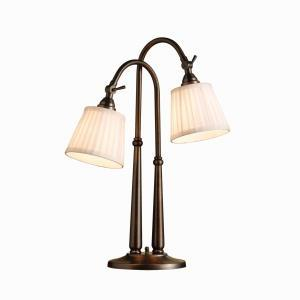 Granite City Electric in Plymouth, Massachusetts, United States, Kichler 70228BBZ, Two Light Burnished Bronze Desk Lamp, Blaine