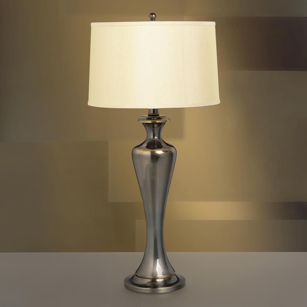 One Light French Bronze Table Lamp