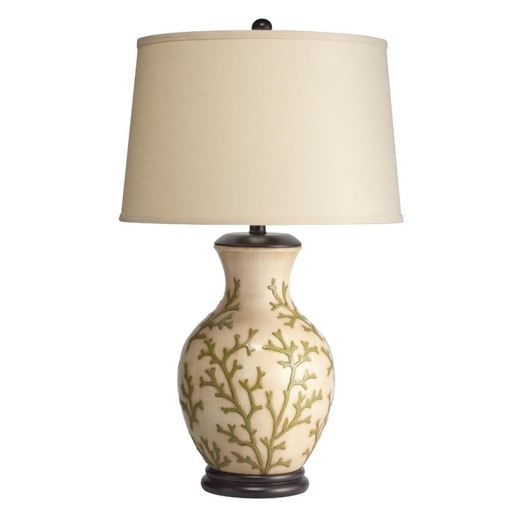 One Light Hand Painted Porcelain Table Lamp