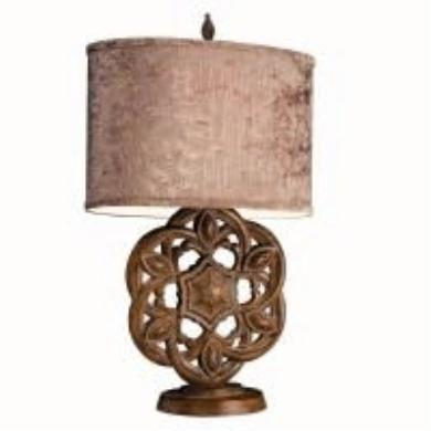 One Light Hand Painted Table Lamp