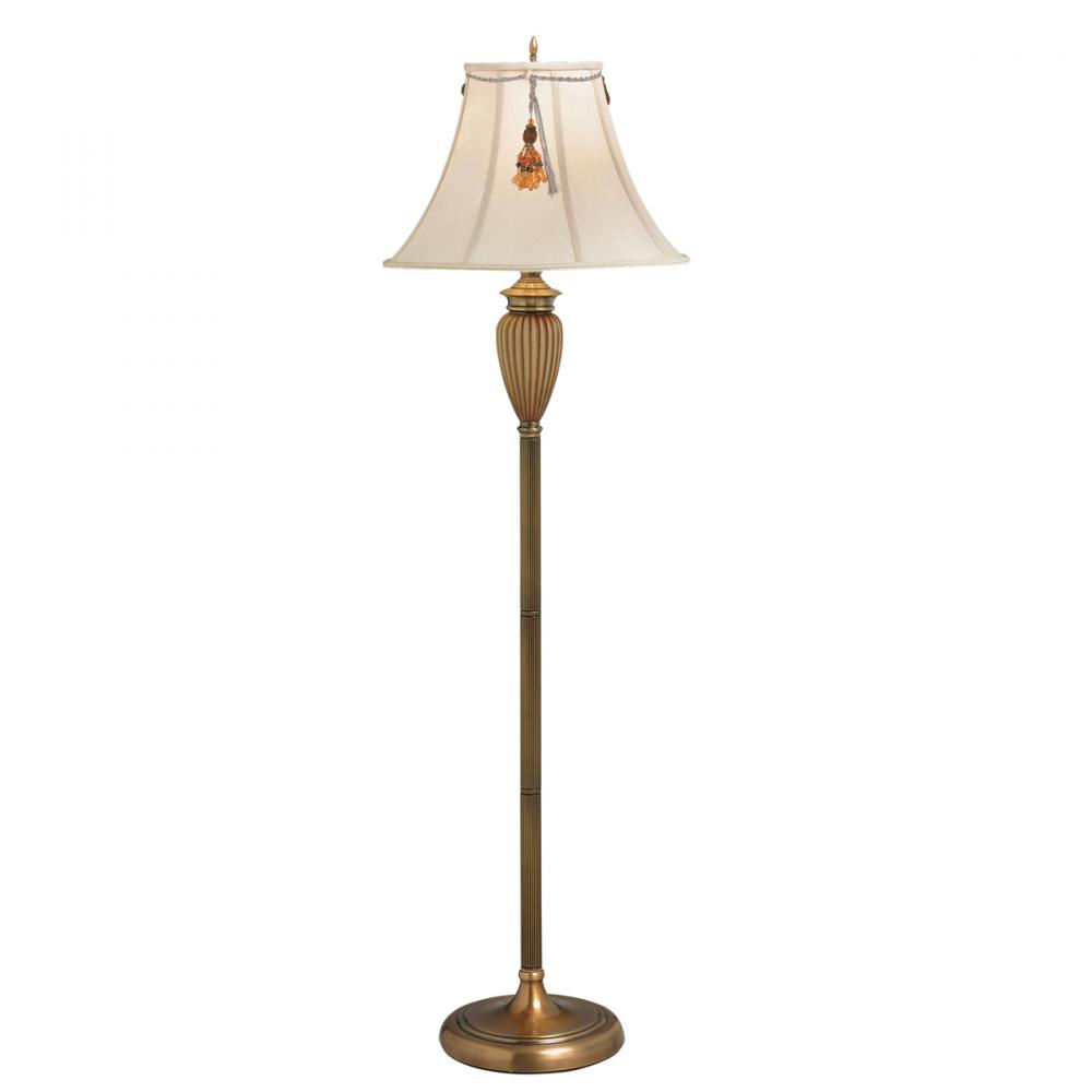 One Light Antique Brass Floor Lamp