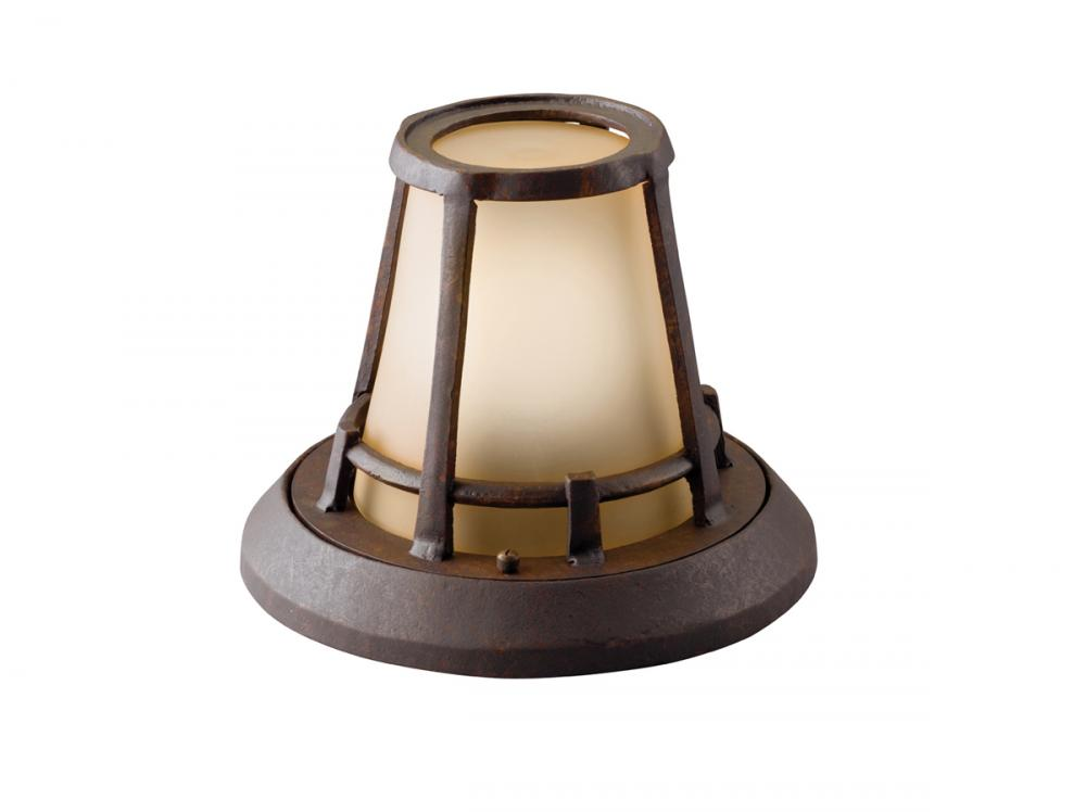 One Light Aged Bronze Outdoor Flush Mount