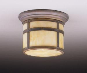 One Light Canyon View Outdoor Flush Mount