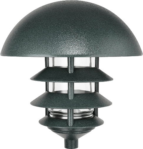 LAWN LIGHT DOME 4 TIER INCANDESCENT VERDE GREEN