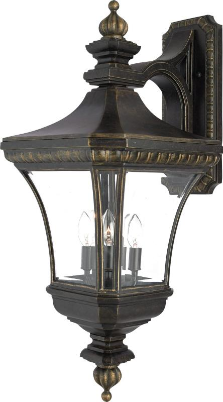 Four Light Clear Beveled Glass Wall Lantern