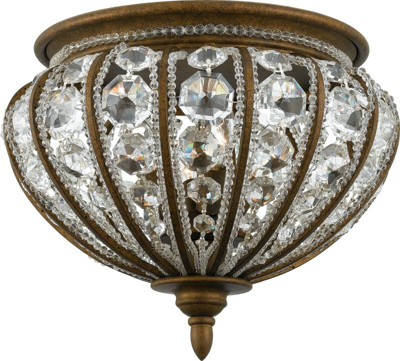 Six Light Crystal - Clear Bowl Flush Mount