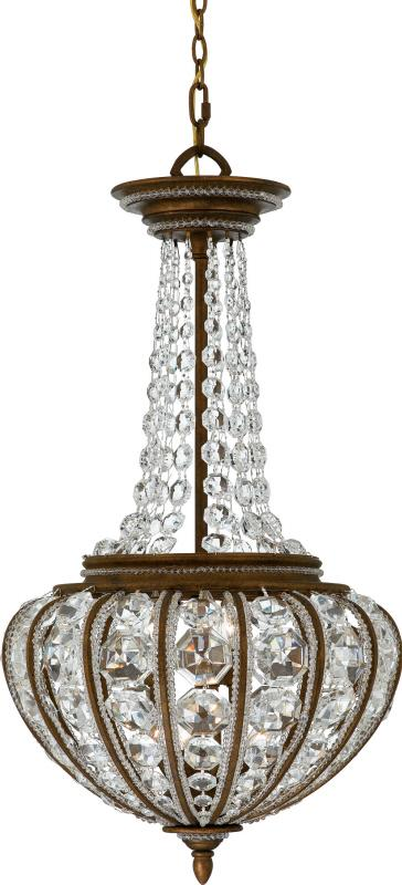 Granite City Electric in Plymouth, Massachusetts, United States, Quoizel EP2820BO, Six Light Crystal - Clear Up Chandelier, Empire