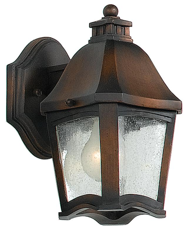 One Light Clear Seedy Glass Wall Lantern