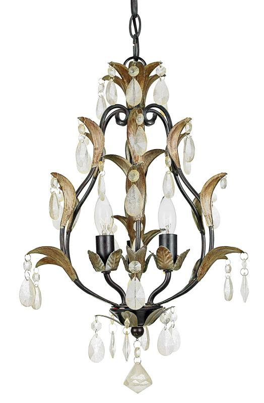 Three Light Crystal - Sparkling Clear Up Mini Chandelier
