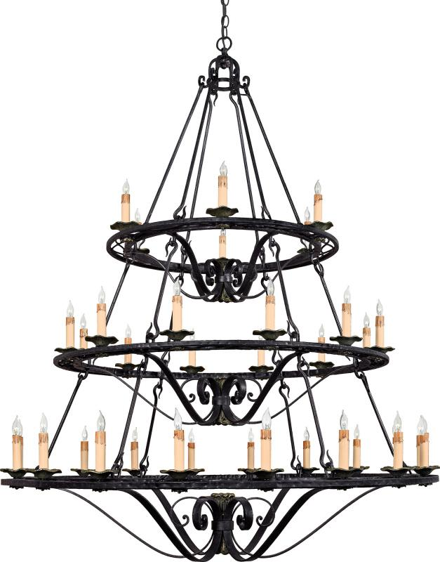 Thirty Six Light Up Chandelier