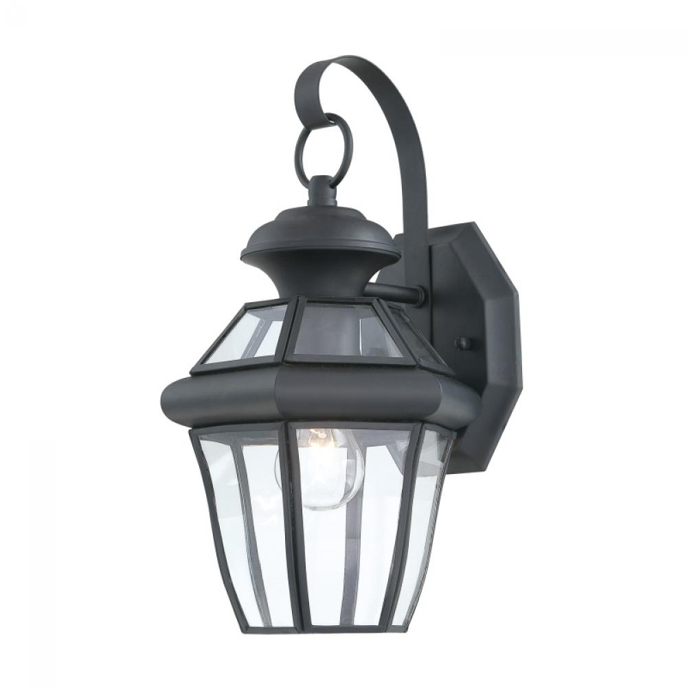 Granite City Electric in Plymouth, Massachusetts, United States, Quoizel SX8407K, One Light Mystic Black Wall Lantern, Sussex