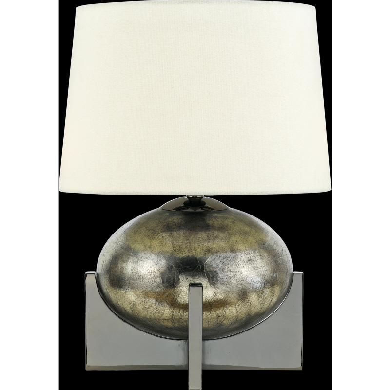 One Light Custom Black/gold White Linen Shade Desk Lamp