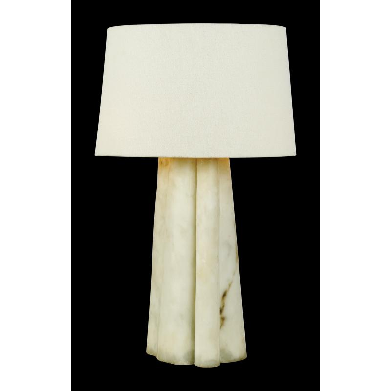 Granite City Electric in Plymouth, Massachusetts, United States, Quoizel HDS3969, Two Light Faux Alabaster White Linen Shade Desk Lamp, Hospitality Designs