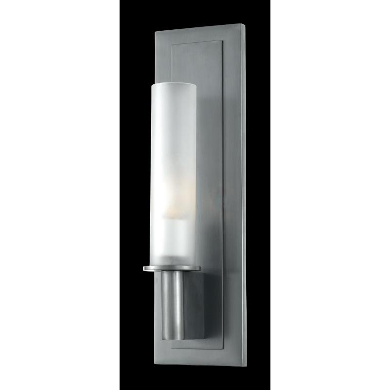 One Light White Frosted Glass Wall Light