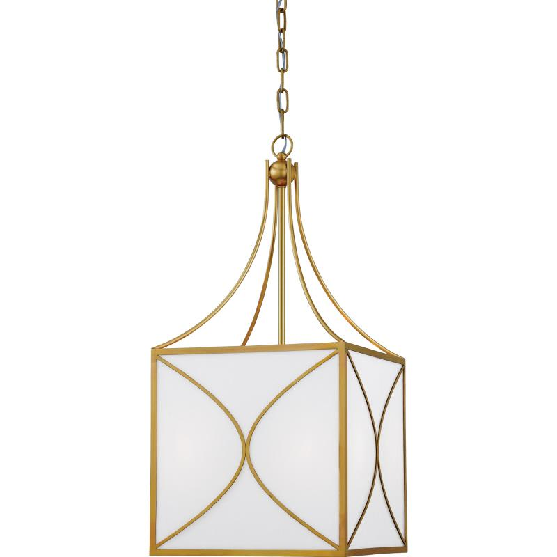 "pendant  natural brass 14""w"