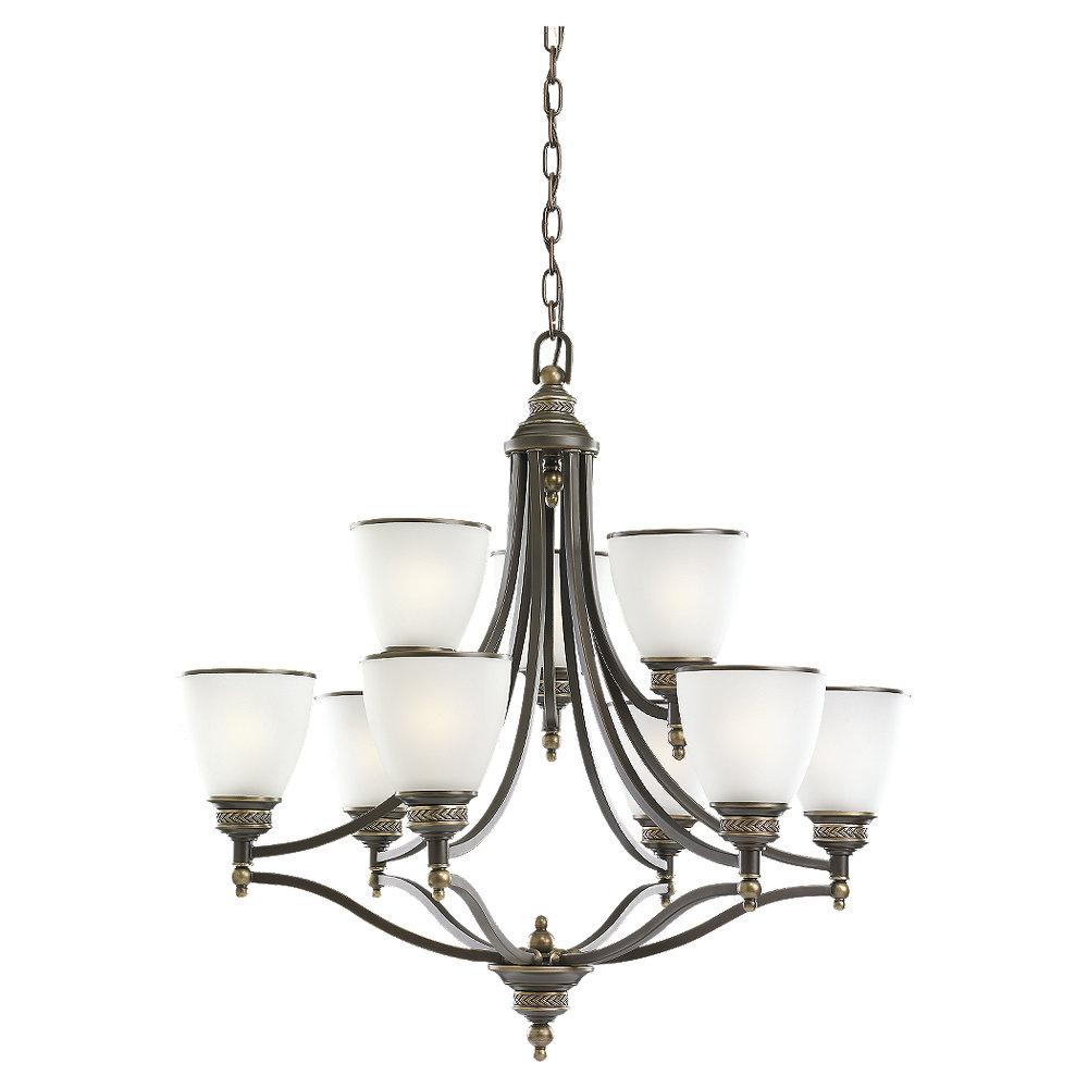 Granite City Electric in Plymouth, Massachusetts, United States, Sea Gull 31351-782, Bronze Up Chandelier, Laurel Leaf
