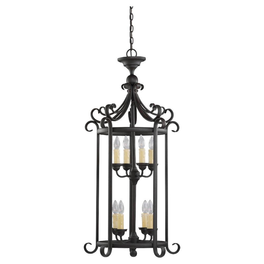 Bronze Open Frame Foyer Hall Fixture