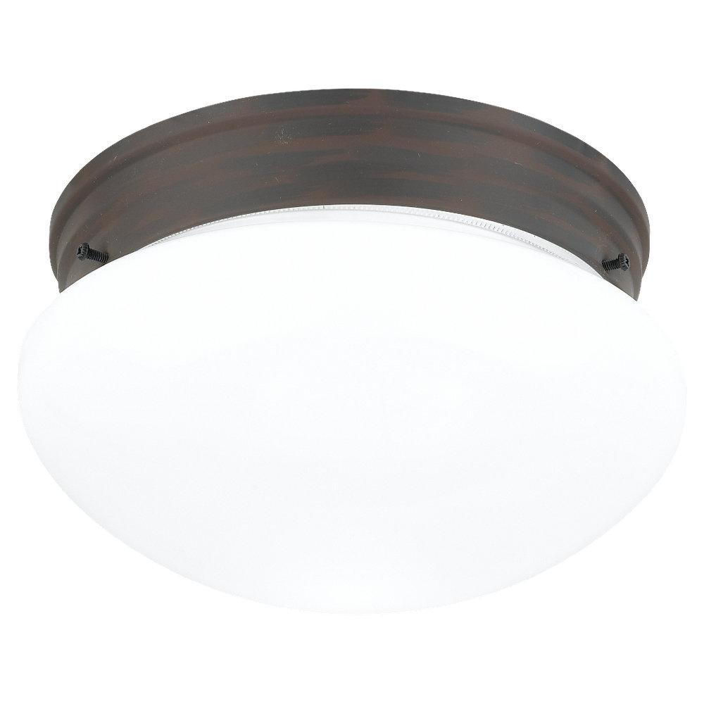 Two Light Bronze Mushroom Flush Mount