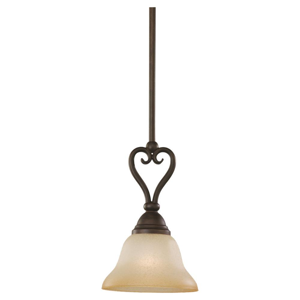 Granite City Electric in Plymouth, Massachusetts, United States, Sea Gull 61105-72, One Light Bronze Down Mini Pendant, Montclaire