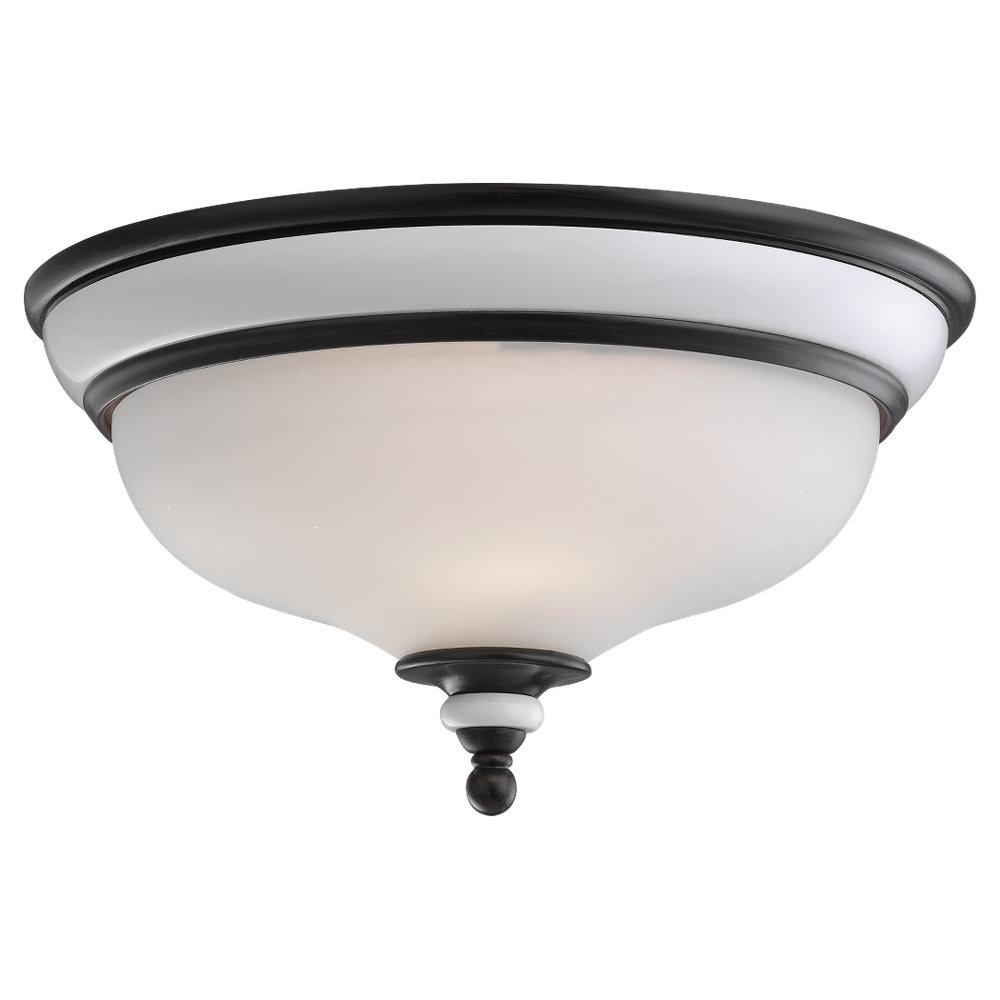 White Bowl Flush Mount