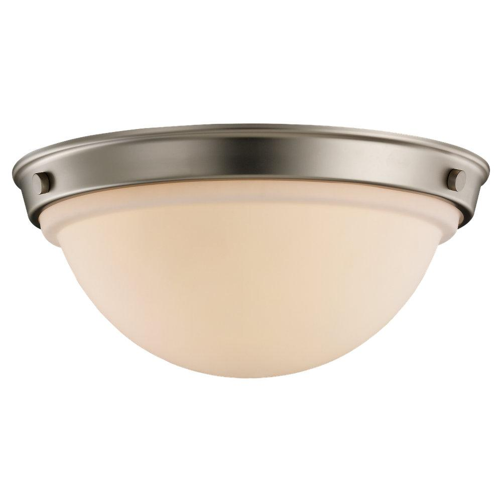 Pewter Bowl Flush Mount