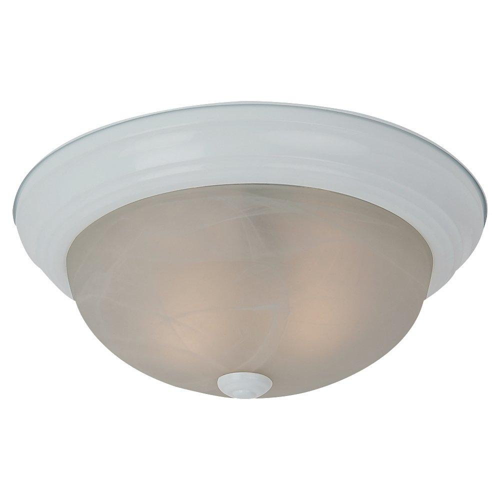 Fluorescent Three Light Ceiling Flush Mount