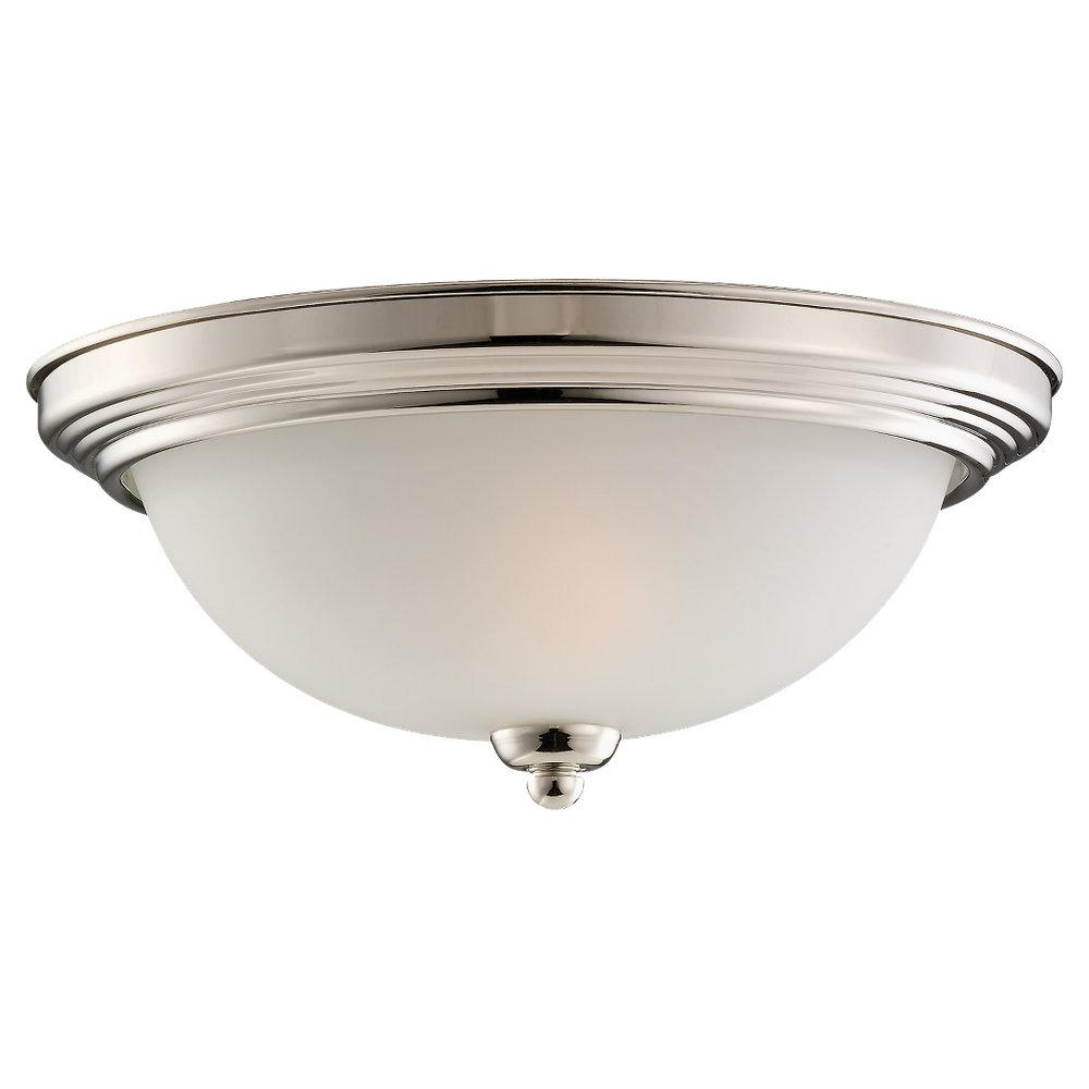 Nickel Bowl Flush Mount